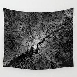 philadelphia map Wall Tapestry