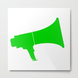 Green Isolated Megaphone Metal Print