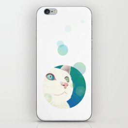 Odd-eyed White Cat iPhone Skin