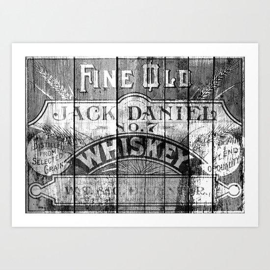 Jack Daniel - Vintage Wiskey Art Print