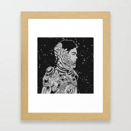 Space Nouveau Framed Art Print