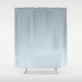 Gray blue geometric pattern Shower Curtain