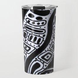 Ornate Lizard (b&w version) Travel Mug