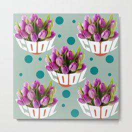 cool tulip flower Metal Print