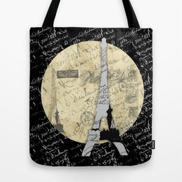 Eiffel Tower Moon Tote Bag