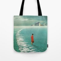 cities Tote Bags featuring Waiting For The Cities To Fade Out by Frank Moth