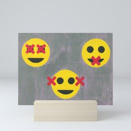 The Three Wise Emojies Mini Art Print