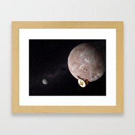 The New Horizons Flyby of Pluto Framed Art Print