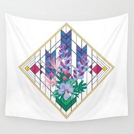 Wildflower Impressions - Wild Lupine, Prairie Smoke, Birdsfoot Violet Wall Tapestry