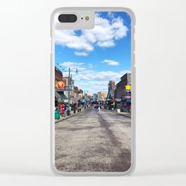 Memphis Beale Street in Technicolor Clear iPhone Case