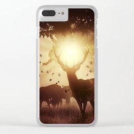 Mystic Deer Clear iPhone Case