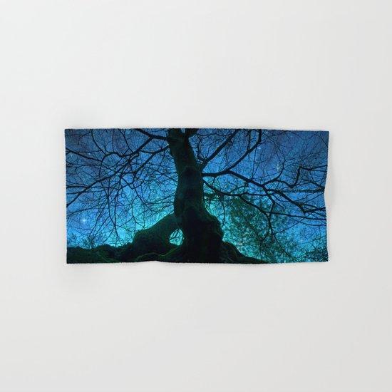 Tree under a spangled sky (light) Hand & Bath Towel