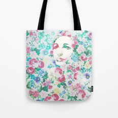 Rose Lady, Light Floral Patch Tote Bag