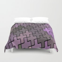 Abstract Crosses Duvet Cover