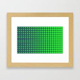 Simple green halftone background Framed Art Print