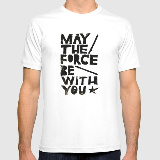 May the Force be with You - Linocut Star Wars Movie Poster T-shirt