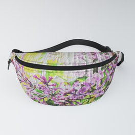 White Washed Painted Lilac Fanny Pack