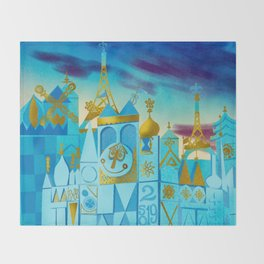 It's a Small World Throw Blanket