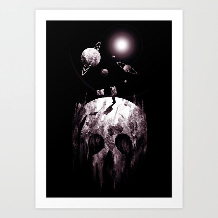 the darkside Art Print