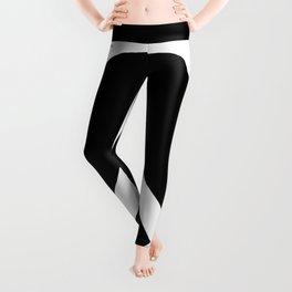 Peace (White & Black) Leggings