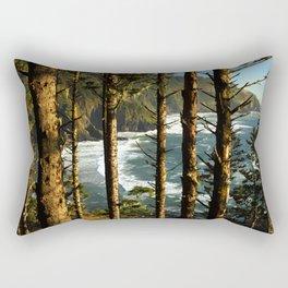 View through the treesH Rectangular Pillow