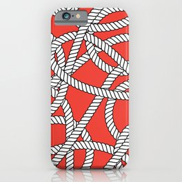 Red Rope Pattern iPhone Case