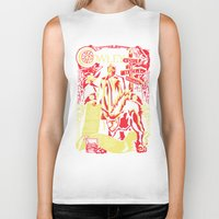 crowley Biker Tanks featuring Crowley by Tracey Gurney