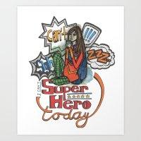 can't superhero Art Print