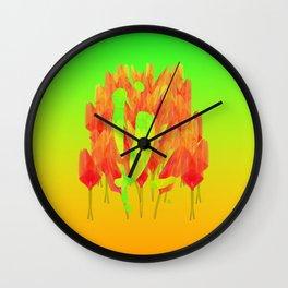 YL visiting Amsterdam Wall Clock