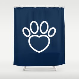 Dog Paw with Heart Dog Lover & owner cynophilist gift Shower Curtain