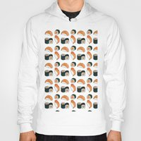 sushi Hoodies featuring Sushi by Raccoon Illustrations