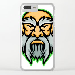 Cronus Greek God Mascot Clear iPhone Case