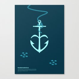 Underwaterlove Canvas Print