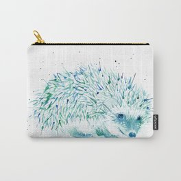Abstract Blue Hedgehog Watercolor Carry-All Pouch