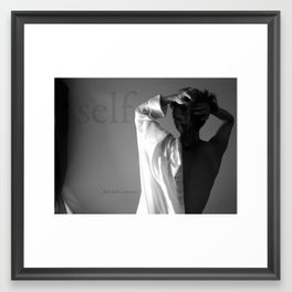 Don't look at me now Framed Art Print