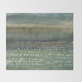 Landscape Dots- Blue Throw Blanket