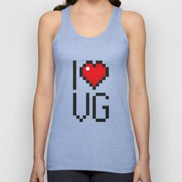 PAUSE – I Love Video Games Unisex Tank Top
