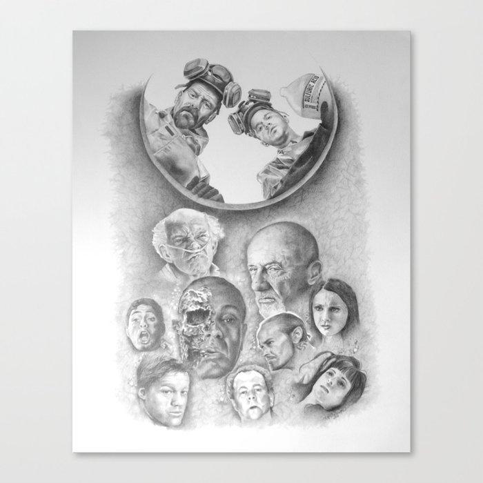Breaking Bad Coin Flip Canvas Print