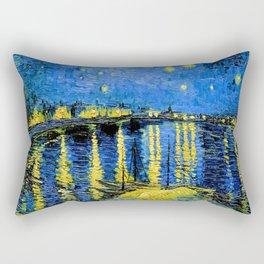 Van Gogh Starry Night Over the Rhone Rectangular Pillow
