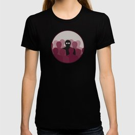 Creepy Ghost In Crowd T-shirt