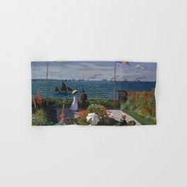 Garden at Sainte-Adresse by Claude Monet Hand & Bath Towel