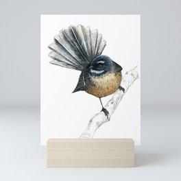 Mr Pīwakawaka, New Zealand native bird fantail Mini Art Print