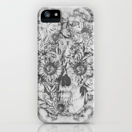Bookmatched Marble Skull iPhone Case