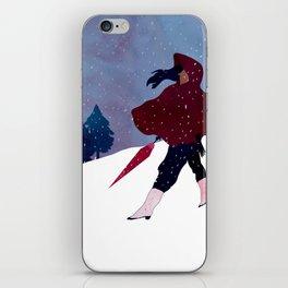 walking on snow iPhone Skin