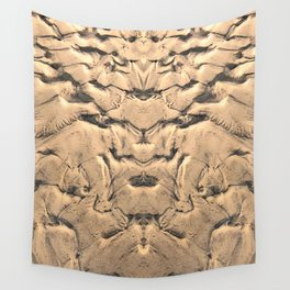 Golden Tidal Sands Wall Tapestry