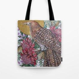 Golden Pheasant Coucal Tote Bag