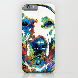 Labrador Retriever Art - Play With Me - By Sharon Cummings iPhone Case