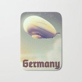 Germany Blimp vacation poster Bath Mat