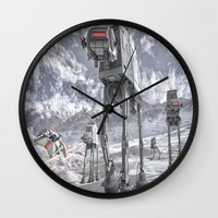 sci fi Wall Clocks featuring Sci-Fi Fantasy 2 by gypsykissphotography