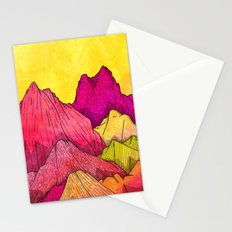 Heat Wave Mountains Stationery Cards